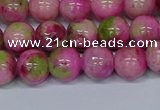 CMJ550 15.5 inches 10mm round rainbow jade beads wholesale