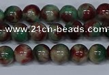 CMJ569 15.5 inches 6mm round rainbow jade beads wholesale