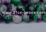 CMJ599 15.5 inches 10mm round rainbow jade beads wholesale