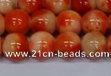 CMJ607 15.5 inches 12mm round rainbow jade beads wholesale