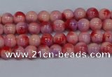 CMJ617 15.5 inches 4mm round rainbow jade beads wholesale