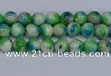 CMJ624 15.5 inches 4mm round rainbow jade beads wholesale