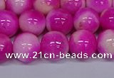 CMJ642 15.5 inches 12mm round rainbow jade beads wholesale