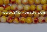CMJ646 15.5 inches 6mm round rainbow jade beads wholesale