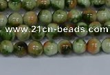 CMJ674 15.5 inches 6mm round rainbow jade beads wholesale