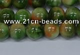 CMJ676 15.5 inches 10mm round rainbow jade beads wholesale