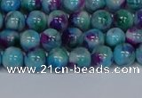 CMJ687 15.5 inches 4mm round rainbow jade beads wholesale
