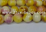 CMJ697 15.5 inches 10mm round rainbow jade beads wholesale