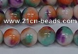 CMJ725 15.5 inches 10mm round rainbow jade beads wholesale