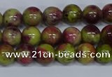 CMJ745 15.5 inches 8mm round rainbow jade beads wholesale