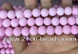 CMJ813 15.5 inches 10mm round matte Mashan jade beads wholesale