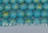 CMJ965 15.5 inches 4mm round Mashan jade beads wholesale