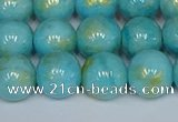 CMJ967 15.5 inches 8mm round Mashan jade beads wholesale