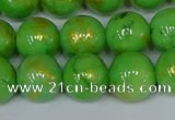 CMJ977 15.5 inches 8mm round Mashan jade beads wholesale