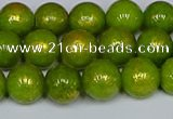 CMJ986 15.5 inches 6mm round Mashan jade beads wholesale