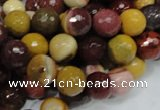CMK17 15.5 inches 10mm faceted round mookaite beads wholesale