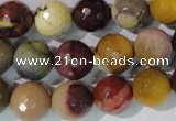 CMK214 15.5 inches 12mm faceted round mookaite gemstone beads