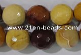 CMK216 15.5 inches 16mm faceted round mookaite gemstone beads