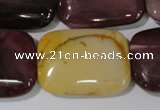 CMK268 15.5 inches 22*30mm rectangle mookaite gemstone beads