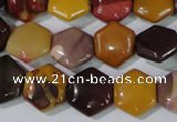 CMK278 15.5 inches 12*12mm hexagon mookaite gemstone beads