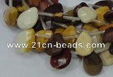 CMK30 15.5 inches 10*14mm faceted flat teardrop mookaite beads