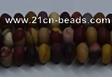 CMK300 15.5 inches 4*6mm rondelle matte mookaite beads wholesale