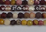 CMK316 15.5 inches 4mm faceted round mookaite gemstone beads