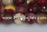 CMK319 15.5 inches 10mm faceted round mookaite gemstone beads