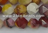 CMK326 15.5 inches 10mm faceted nuggets mookaite gemstone beads