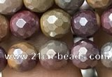 CMK338 15.5 inches 6mm faceted round AB-color mookaite beads