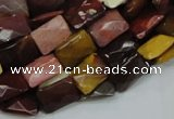 CMK38 15.5 inches 13*18mm faceted rectangle mookaite beads wholesale