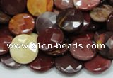 CMK52 15.5 inches 12mm faceted coin mookaite beads wholesale