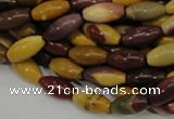 CMK65 15.5 inches 8*16mm rice mookaite gemstone beads wholesale