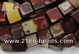 CMK71 15.5 inches 10*10mm cube mookaite gemstone beads wholesale