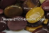 CMK75 15.5 inches 18*25mm oval mookaite gemstone beads wholesale