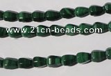 CMN229 15.5 inches 5*7mm faceted teardrop natural malachite beads
