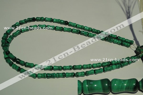 CMN233 15.5 inches 6*12mm bone natural malachite beads wholesale