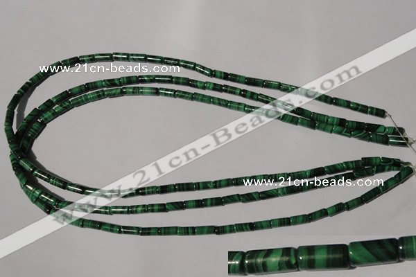 CMN237 15.5 inches 4*8mm tube natural malachite beads wholesale