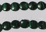 CMN252 15.5 inches 10mm flat round natural malachite beads wholesale