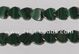 CMN261 15.5 inches 8*8mm heart natural malachite beads wholesale