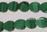 CMN263 15.5 inches 12*12mm heart natural malachite beads wholesale