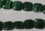 CMN294 15.5 inches 12*12mm square natural malachite beads wholesale