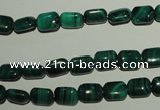 CMN300 15.5 inches 6*8mm rectangle natural malachite beads wholesale