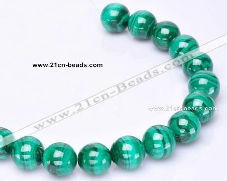 CMN36 AB grade 3mm round natural malachite beads Wholesale