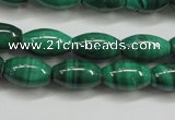 CMN418 15.5 inches 4*6mm rice natural malachite beads wholesale