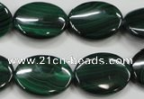 CMN436 15.5 inches 15*20mm oval natural malachite beads wholesale