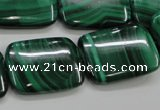 CMN448 15.5 inches 18*25mm rectangle natural malachite beads