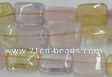 CMQ205 15.5 inches 12*16mm rectangle multicolor quartz beads