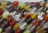 CMQ27 15.5 inches 5*8mm rice multicolor quartz beads wholesale