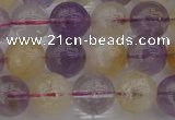 CMQ313 15.5 inches 10mm round citrine & amethyst beads wholesale
